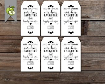 disposable camera, wedding camera, photo tag, favour tag, wedding tag, wedding favour tag, wedding printable, favor tags, printable