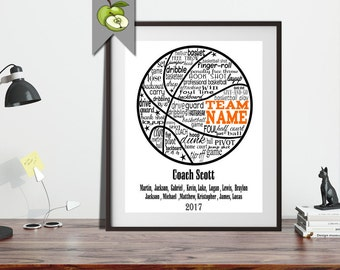 Basketball coach, Appreciation gift, PE Phyical education phys ed, Coach team, typography, BasketBall Personalised, Printable, wall art, BA1