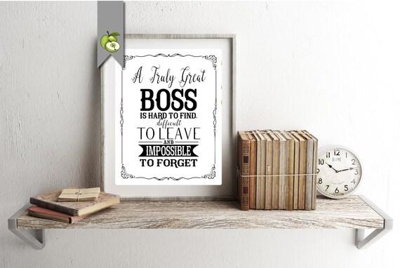 Boss Appreciation Day Week Boss Week Boss Card Boss Gift Etsy