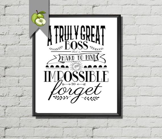Boss Appreciation Day Boss Week Boss Card Boss Gift Thank Etsy