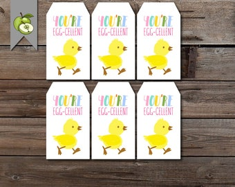 Eggcellent teacher etsy eater gift tag egg cellent egg gift tag class gift teacher class negle Image collections