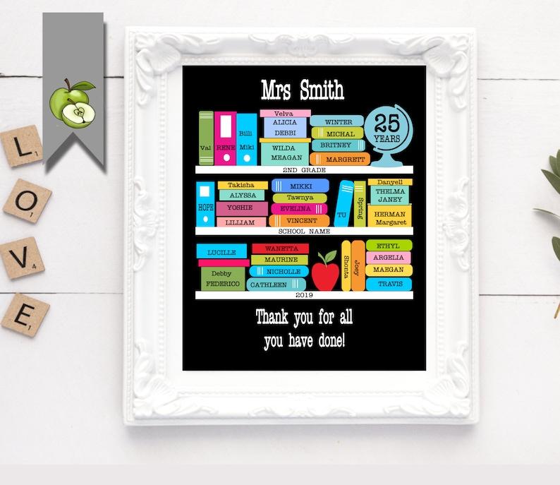 English Teacher appreciation gift library reading teacher image 0