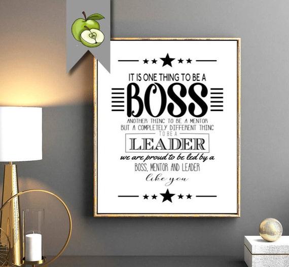 Boss Appreciation Week Gift Boss Appreciation Week Thank You Etsy