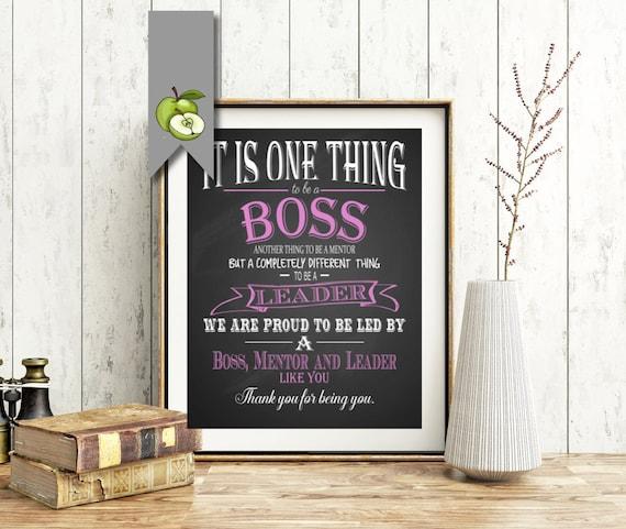 Boss Appreciation Gift Boss Week Boss Day Thank You Boss Etsy