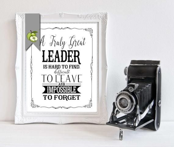 Leader Appreciation Day Boss Week Mentor Card Leader Gift Etsy