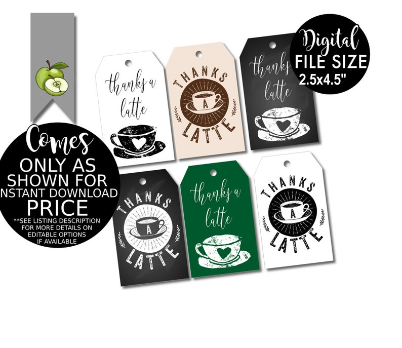 photo relating to Thanks a Latte Printable Tag identified as espresso Want Tag, Because of a Latte, Espresso Reward, Tea Get together Choose, Instructors Present, Hostess Thank Oneself, Trainer reward tags, printable, Present tags