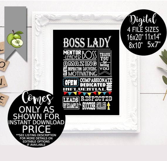 Boss Lady Day Boss Appreciation Week Female Boss Boss Week Boss Award Printable Boss Certificate Boss Event Instant Download