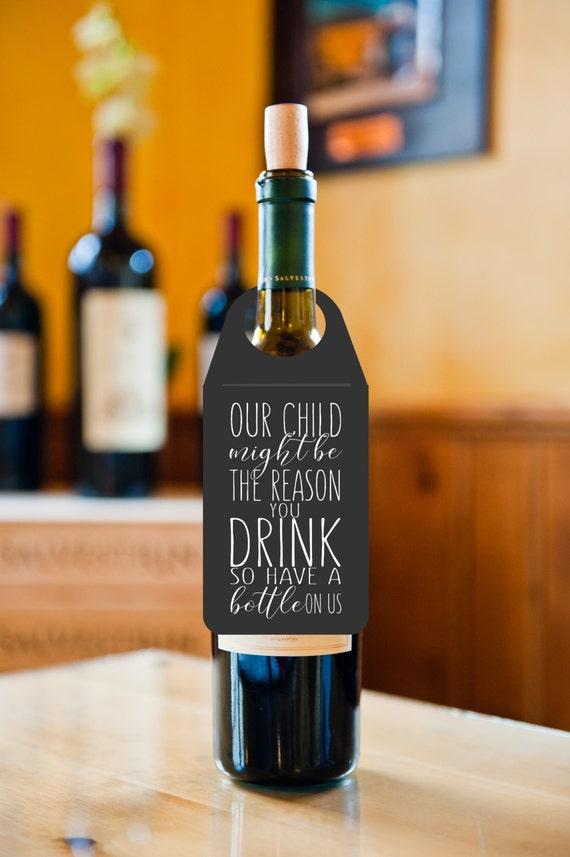 Wein Flasche Geschenkanhänger Wein Geschenk-Tag Lehrer | Etsy