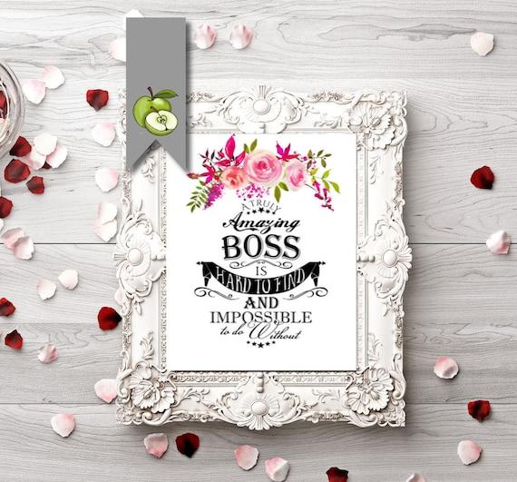 Boss Appreciation Day Boss Week Boss Card Digital Boss Etsy