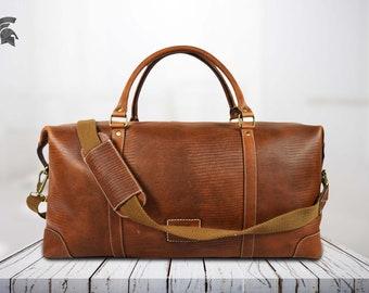 fb963eb4b7 brown leather weekender bag