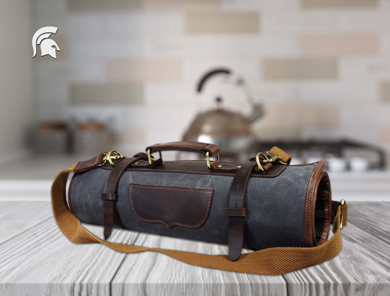 15f27d5769 Knife Roll Knife Waxed Canvas Case Chefs Roll Bag Knives