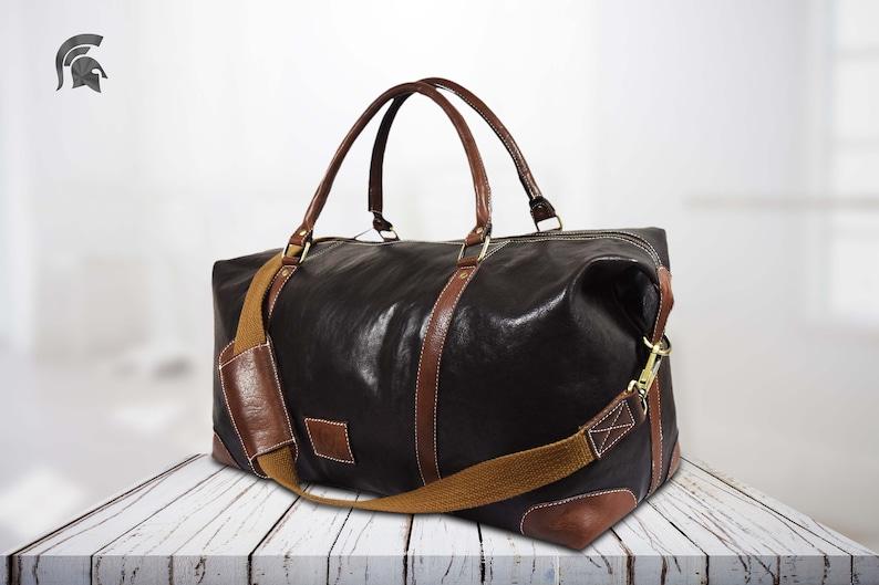 486fd02eab Leather weekender bag duffel bag Leather travel bag Weekend