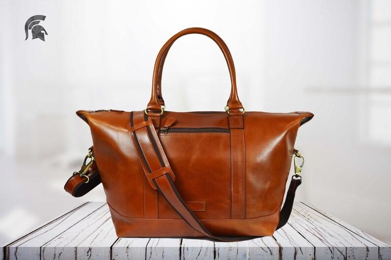 Brown Tan handbag genuine leather bag leather shoulder bag office bag christmas gift Ladies leather business bag Leather Tote