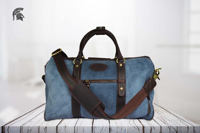 68e5aff5f36e Genuine Leather Travel Bag, Weekend bag, Duffel Bag,Handbag,Cabin Travel  Bag, Women/ Mens/ unisex. Christmas Gift