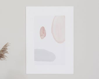 POSTER Large - Flou - Abstract, forms, colors