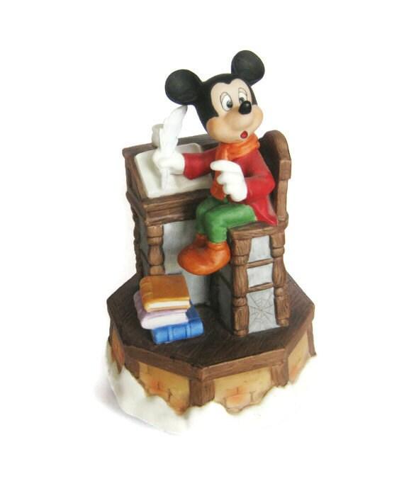 Disney Schmid Mickey Mouse A Christmas Carol Music Box ...