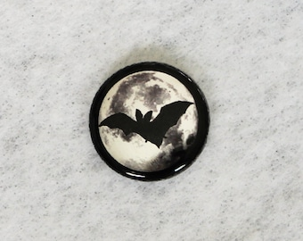 Moon Button, black-silver
