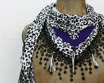 Triangle Cloth Leo *violet BAT*