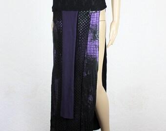 Purple snake net skirt, size M