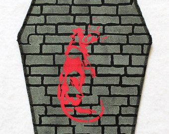 """GLOW Coffin Backpatch """"RAT Area"""", fluorescent"""