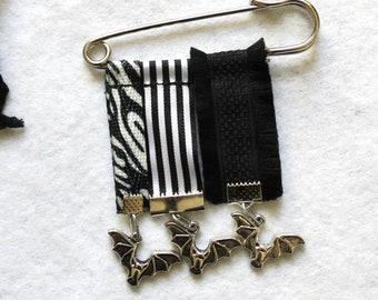 "Order of 3 ""BAT Undead"" - with zebra & stripes"
