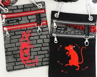 "Belt bags ""Rat Wall"" or ""Rat Dance"", *UNIKAT*"
