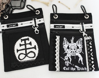 """Belt bags Occult """"Eat the witch"""" and """"Sulfur"""", *UNIKAT*"""