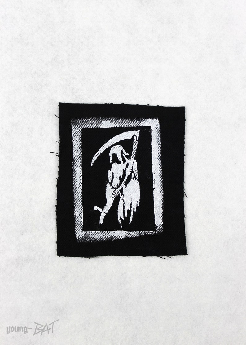 Sensenmann/Death-Patch stencilled black image 0