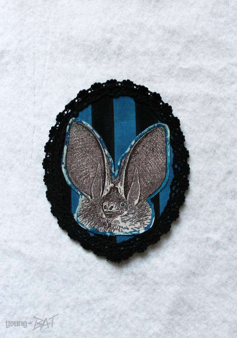 Portrait Long Ear Bat Patch UNIKAT image 0