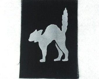 GLOW Screaming Cat - Patch/ Patch, fluorescent