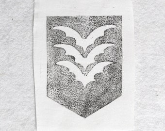 BAT's Army Coat of Arms, Bat Patch, White