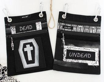 """Belt bags """"Undead"""" and """"Dead"""", *UNIKAT*"""