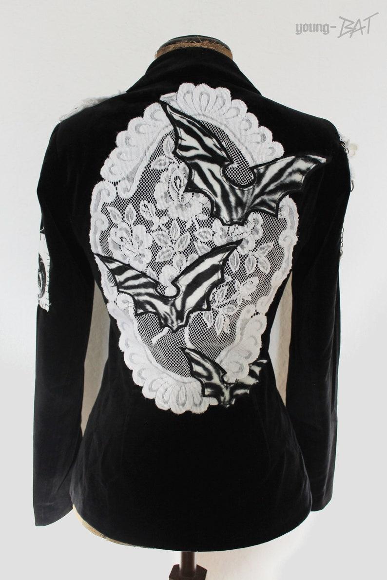 Goth Noir  Jacket Size S/Meter UNIKAT image 0