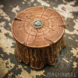 Turquoise jewelry box tiny box painted wood box round wood box wood jewelry box bean pot