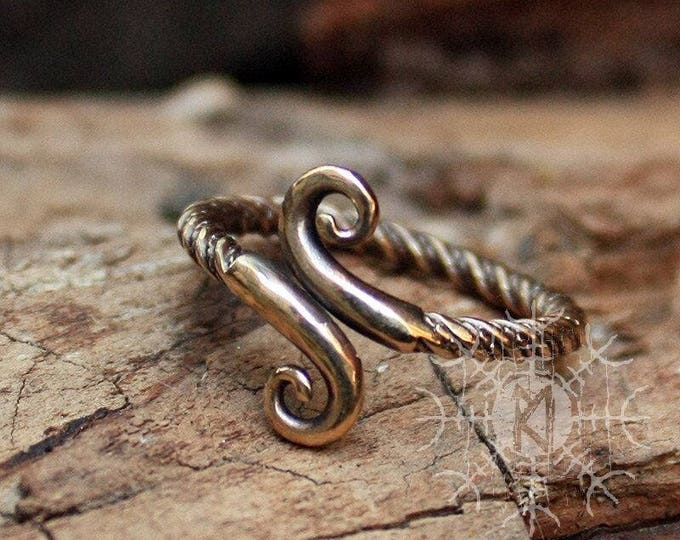Viking Ring  Infinity Symbol Women's Handcrafted Amulet Adjustable Size Ring 5-7 US