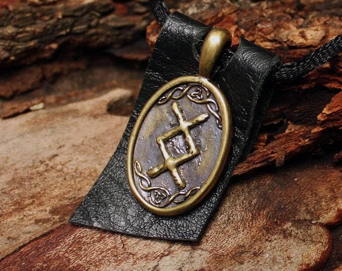 Rune Pendant Inguz Ingwaz Yngvi Rune Yggdrasil Viking Amulet Runic Nordic Pendant Talisman Necklace