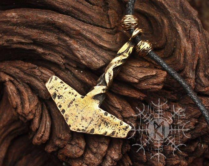 Mjolnir pendant Handmade Rustic Twisted Vikings Thor Hammer Tool Pendant Necklace