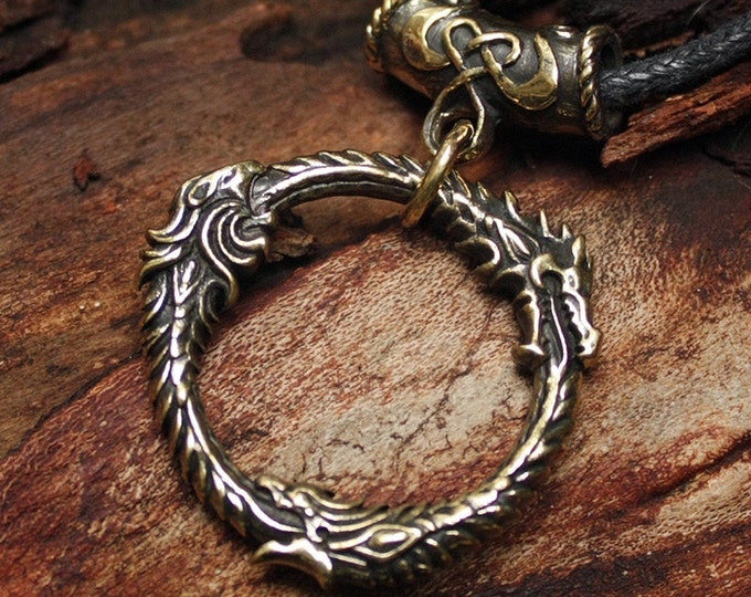 FINAL SALE! Bronze Ouroboros Gamer 3D Pendant Necklace