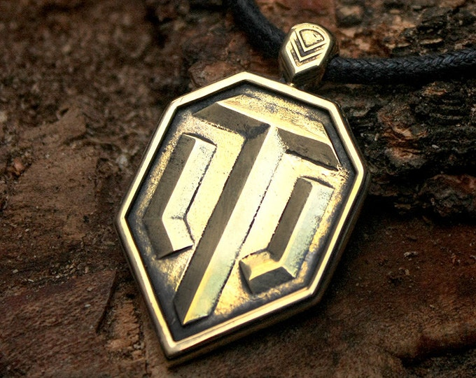 FINAL SALE! WOT World of Tanks Icon Game Brass Pendant Necklace