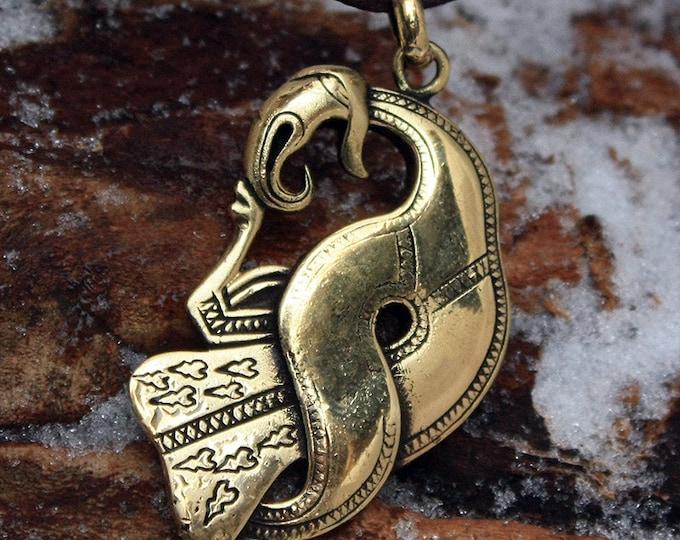 Pendant Norse Raven Crow Scandinavian Brooch Nordic Amulet Pendant Necklace