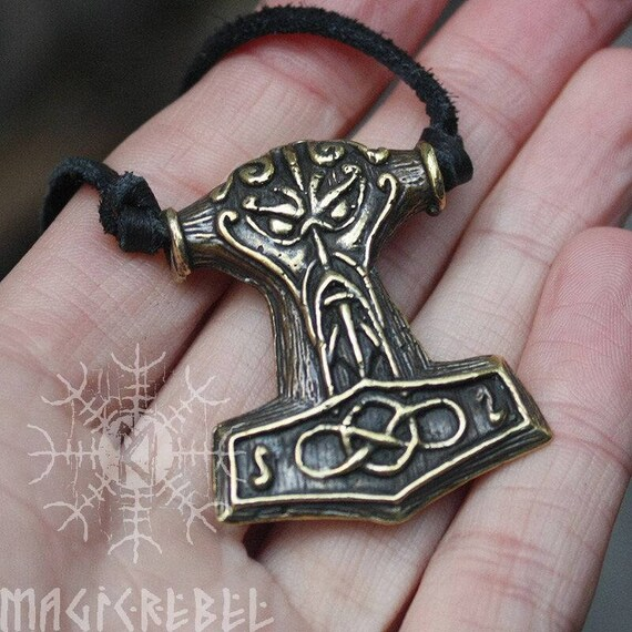 2 thors hammer charms pendentifs 40mm