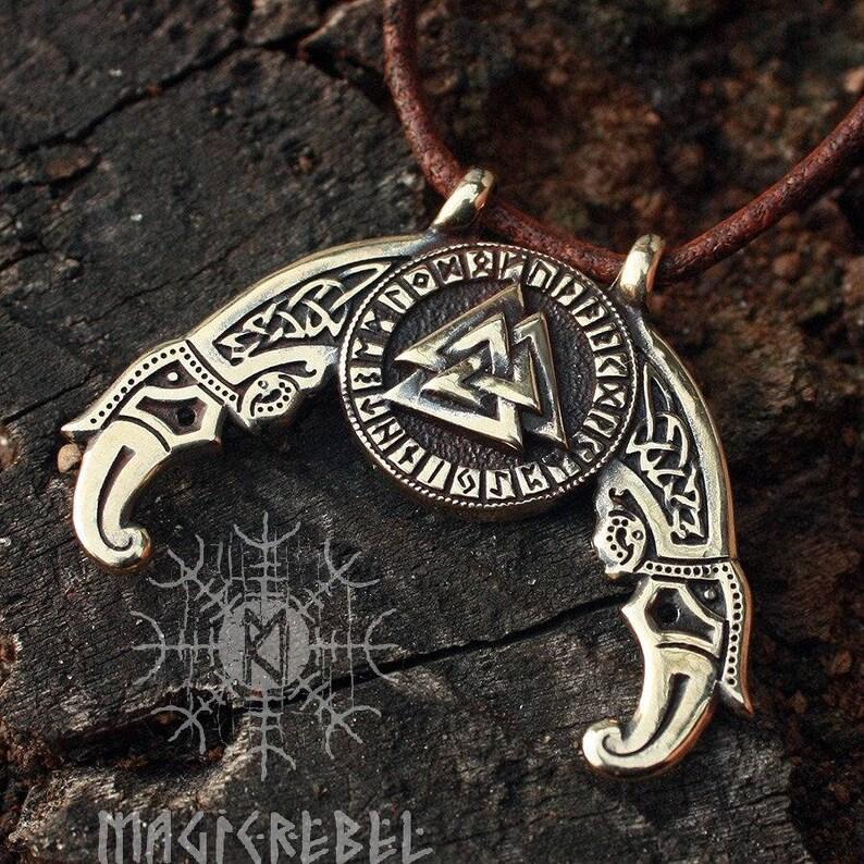 Norse mythology God Symbol TRIPLE HORN OF ODIN Unisex Messenger Shoulder Bag