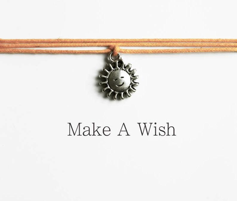 Make A Wish Sun Bracelet Bohemian Jewellery Friendship Bracelets Sunshine Charm Boho Style Happiness