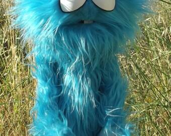 Karturillo blue monster ,Enjoyable blue monster puppet wooden rods