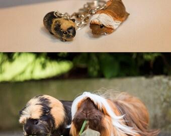 Votre collier personnalisé - Collier petit cochon d'inde - argile polymère - fait main sur commande - animal de compagnie