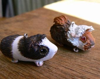 Your own custom necklace - Little guinea pig necklace - Made to order- Pet portrait - Animal souvenir