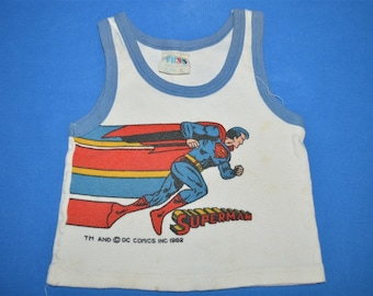 1b251eda01a 80s Superman DC Comics Tank Top Toddler 18 Month