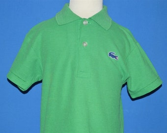 f4fd1bea56eaa8 80s Izod Lacoste Solid Green Alligator Polo Shirt Toddler 3T