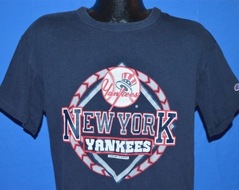 80s New York Yankees Champion Navy Blue Vintage t-shirt Extra-Large c5c8837ac