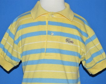 0ab4348e098d5d 80s Izod Lacoste Yellow Striped Polo Shirt Toddler 3T